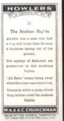Howler's 1937 Occupational Card Arabian Night