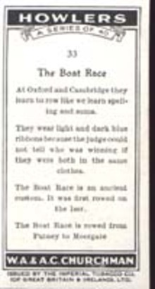 Howler's 1937 Occupational Card Boat Race