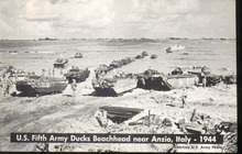 US 5th Army Ducks Beachhead Anzio Italy 1944