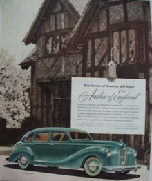 Mag Ad. Austin Automobile of England