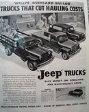 Willys Overland Jeep Trucks 1948 Ad