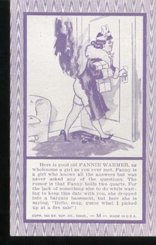 Fannie Warmer Humorous Postcard