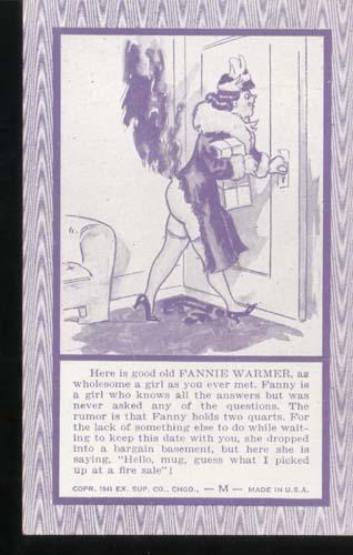 Fannie Warmer Humorous Postcard