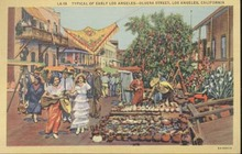 Postcard Olvera Street Los Angeles Calif