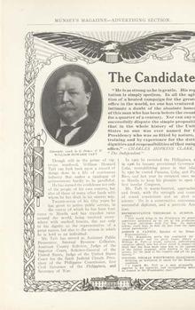 William Howard Taft Candidate Ad