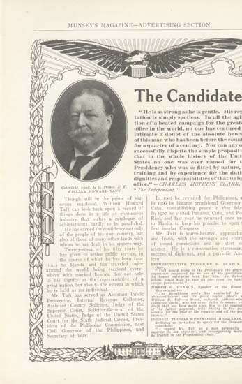 William Howard Taft Candidate Ad