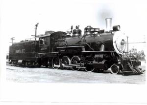 RR Train Photo ATSF 664 Griffith Pk, LA, CA, 5-10-1953 Santa Fe