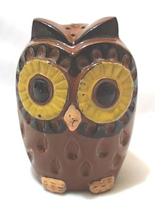 HUGE Owl Ceramic Salt Shaker