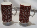 1960's Red Orange Porcelain S&P Shakers
