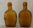 Horseshoe & Horse Amber Bottle S & P Shakers