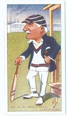 Cigarette Tobacco Card of A. C.Maclaren