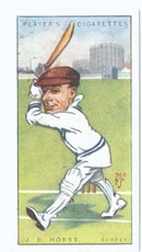 Cigarette Tobacco Card of J. B.Hobbs