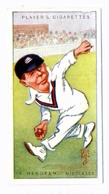Cigarette Tobacco Card of E. Hendren