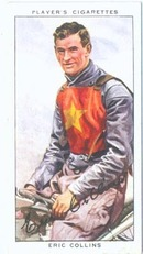 Cigarette Tobacco Card of Eric Collins