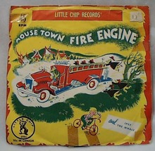 Little Chip Record Mouse Town Fire Engine #25