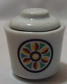 Little Folk Art Mini Jar Or Child Sugar Bowl