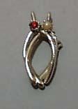 Double Gold Tone Wishbone Pin