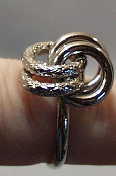 Four Rings Silver Tone Ring