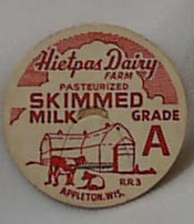 Hietpas Dairy Farm Paper Milk Bottle Cap