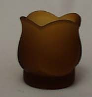 Satin glass amber candleholder Westmoreland?