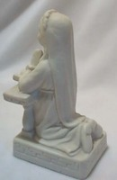 Porcelain girl kneeling figurine