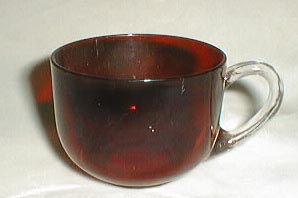 Punch cup in red flashing