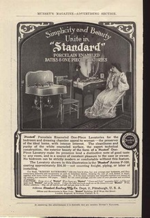 Standard Sanitary Mfg. Ad Around 1900