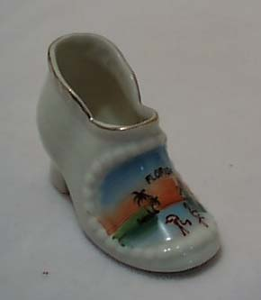 White Porcelain Florida Shoe