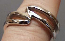 Unusual Silver Tone Ring