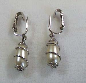 Sarah Coventry Faux Pearl Earrings