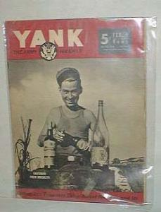 Yank the army weekly, Feb. 9, 1945.,vol. 3 no. 34 featuring Bartender from Brooklyn