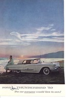 This is a 1959 Ford Thunderbird ad