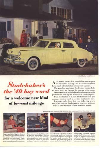 Studebaker's the 1949 Land Cruiser buy word