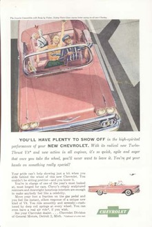 Pink Chevrolet Impala Convertible Ad