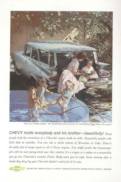 Chevrolet  Blue Brookwood Stationwagon 1958