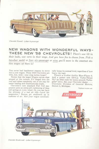 Chevrolet  Blue Brookwood & Yellow Nomad AD