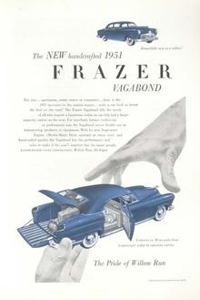 Frazier Vagabond 1951 Ad  Kaiser Frazer Blue