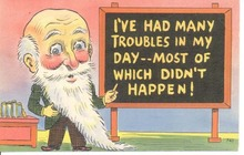 Professor's advice Postcard, Many troubles