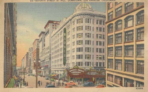 Los Angeles, Ca.1946 Postcard, in color