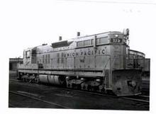 Union Pacific SD - 40 # 3019 RR Train Photo in 1966