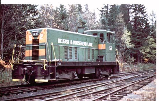 Belfast & Moosehead Lake Railroad's number 52