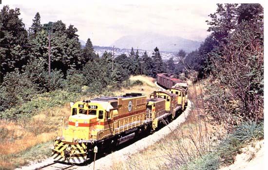 British Columbia Hydro Railways number 381.
