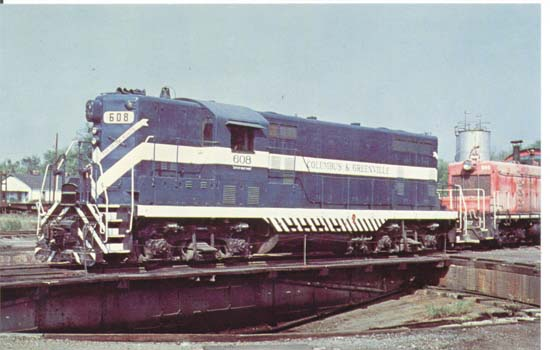 Columbus & Greenville Railways' number 608