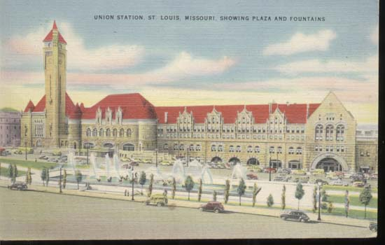 Union Station St Louis Train station Postcard