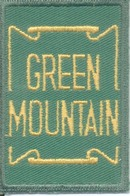 Green mountain railroad patch, mint condition