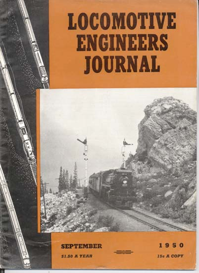 Locomotive Engineers Journal Sep1950 magazine