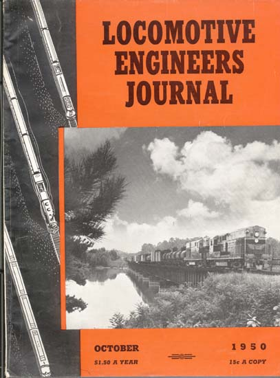 Locomotive Engineers Journal Oct1950 magazine
