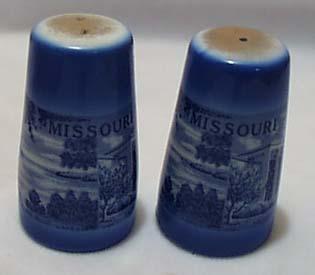 Blue Souvenir St Louis Mo S&P Porcelain