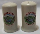 Souvenir Arkansas S&P Shakers Stoneware