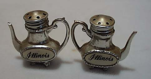 Metal Coffee Pots Illinois Souvineer S&P